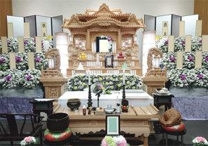 越谷市斎場 白木祭壇2