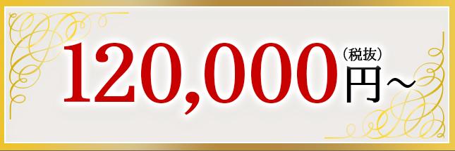 120,000円~(税抜)