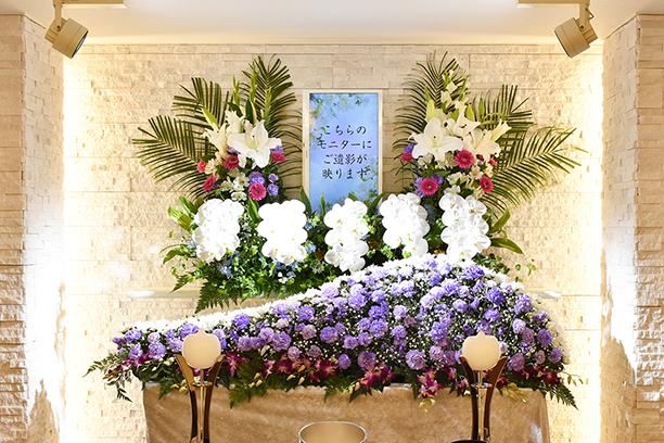 生花祭壇 春日部家族葬アートエンディング