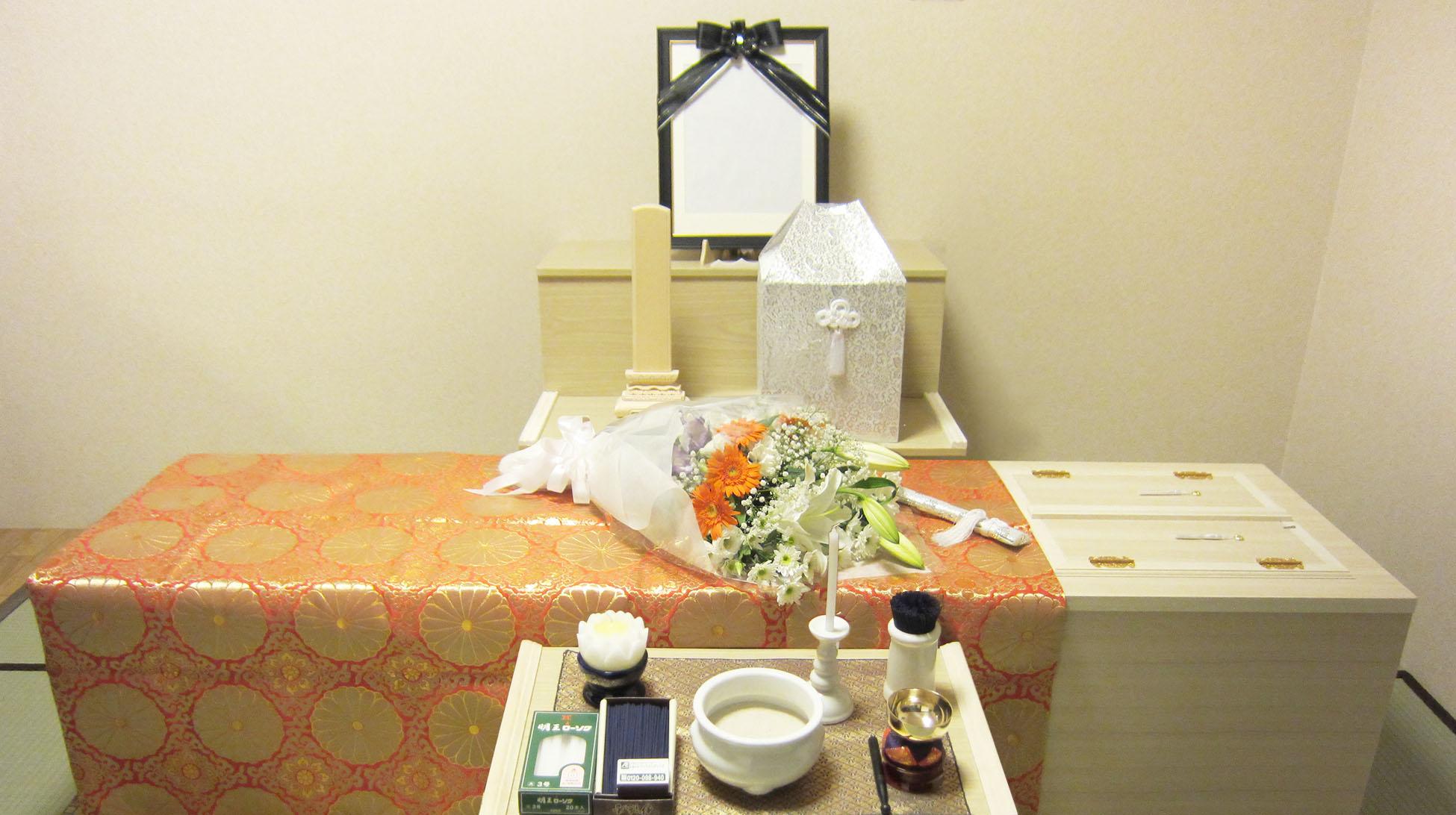 直葬プラン 祭壇例